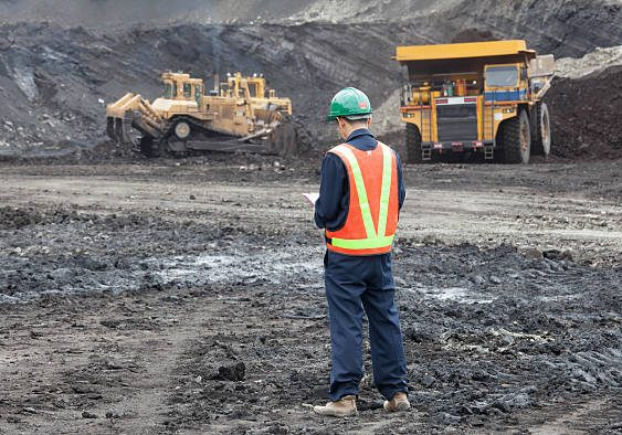 Heavy mining industry worker